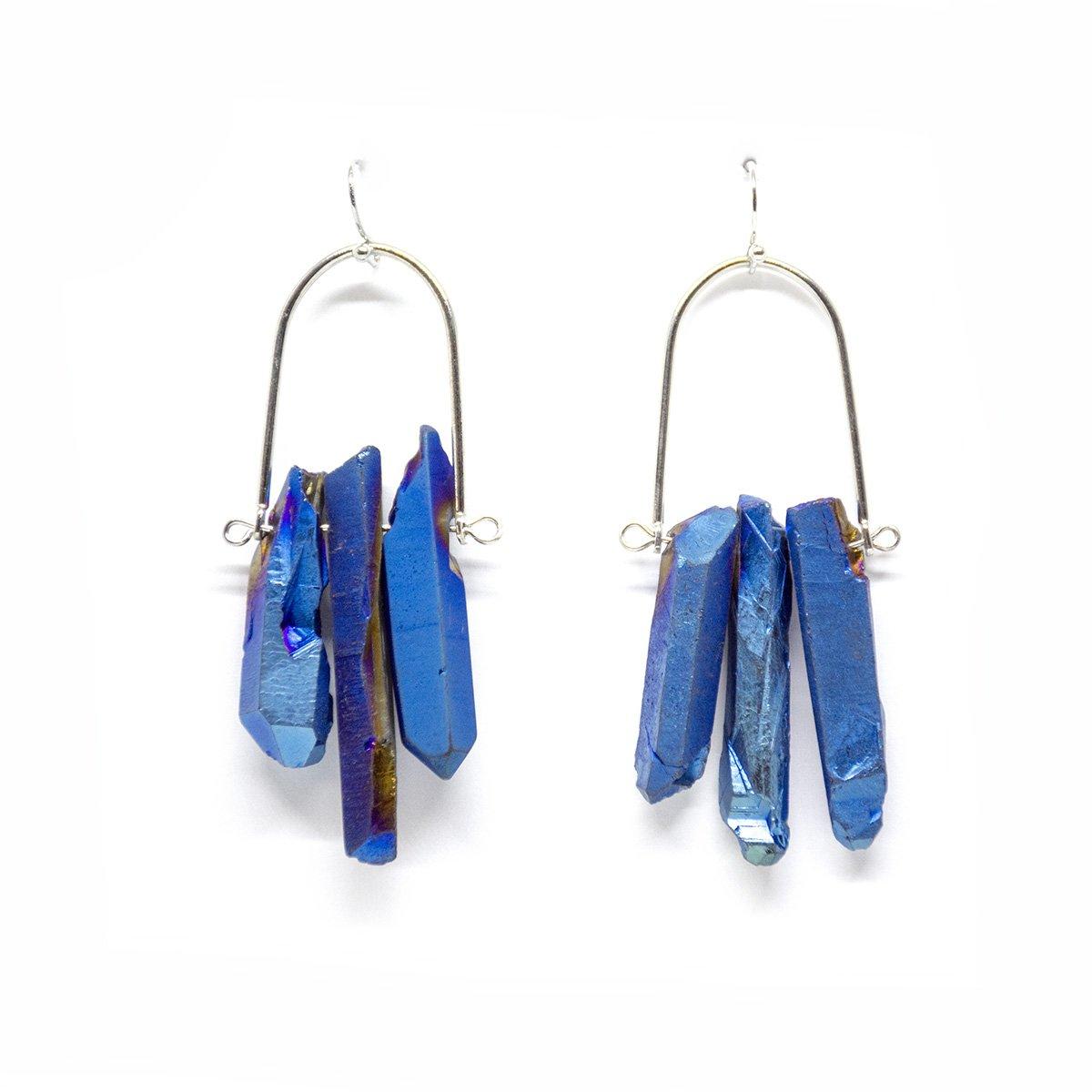 sieraden blauwe oorbellen natuursteen cadeau earrings