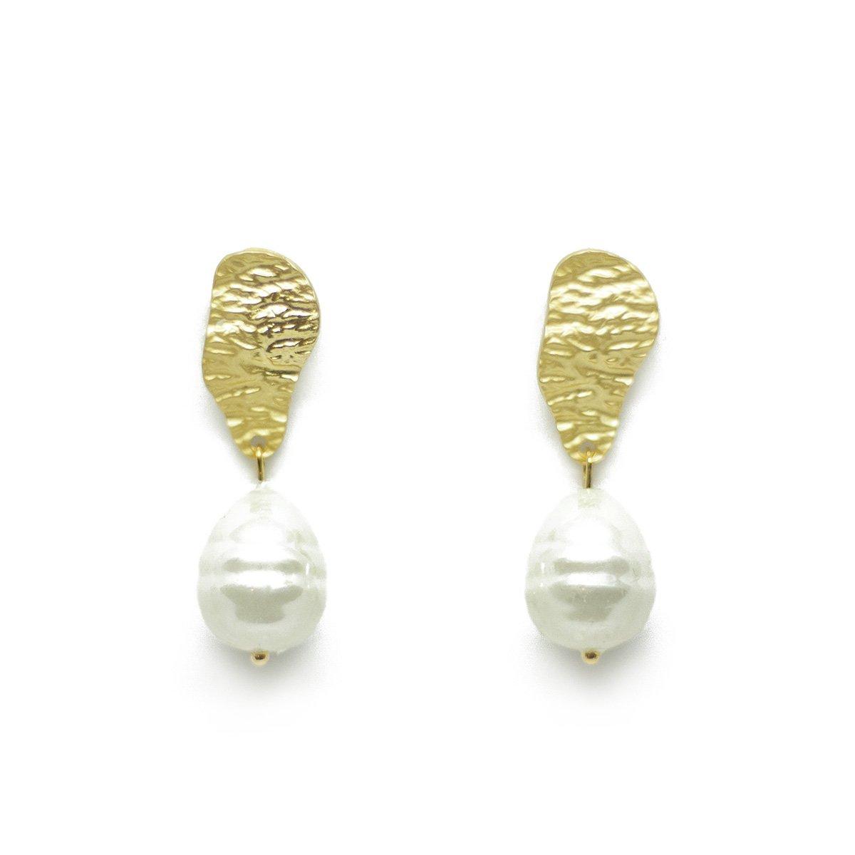 druppel oorbellen teardrop earrings pearl parel gouden