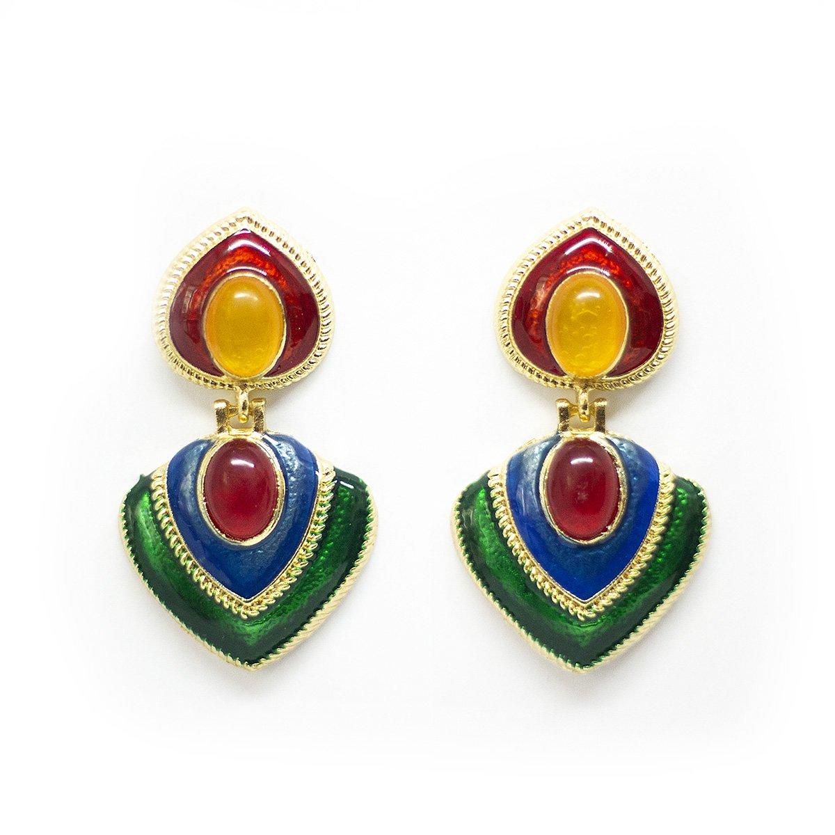 sieraden veelkleurig oorbellen verjaardagscadeau cadeau earrings