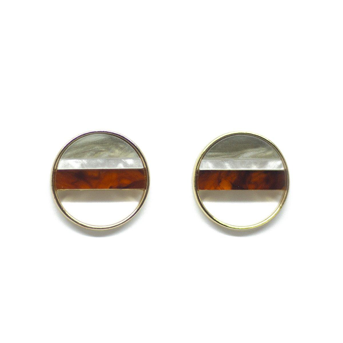 rhombus oorknopjes handmade modern earrings